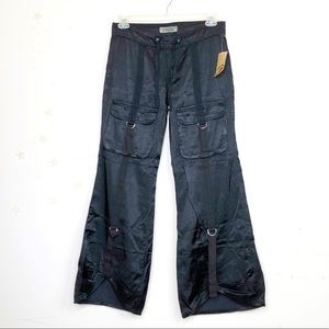 Z Cavaricci black satin pants